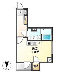REXII茶屋ヶ坂[3階]の間取り