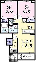 クラール安宅 B[102号室]の間取り