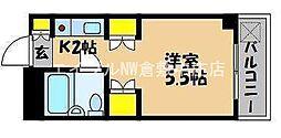 岡山県倉敷市鳥羽丁目なしの賃貸マンションの間取り