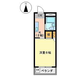 コーポM・A・S[2階]の間取り
