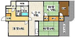 大翔第一ビル[506号室]の間取り