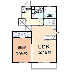 (仮)辻村アパート[101号室]の間取り
