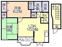 エトワール(津福本町)[202号室]の間取り