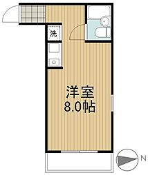 ハイドパークムサシノ[1階]の間取り