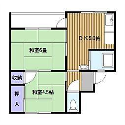 川島町[209号室]の間取り