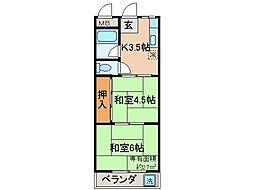 京都府京都市伏見区深草新門丈町の賃貸マンションの間取り