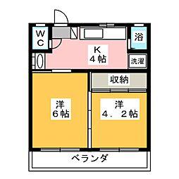 オレンジコート[1階]の間取り
