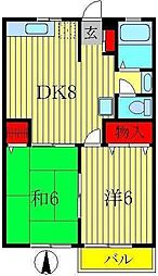 コトー石川[2階]の間取り