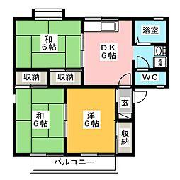 セジュール柱A[1階]の間取り