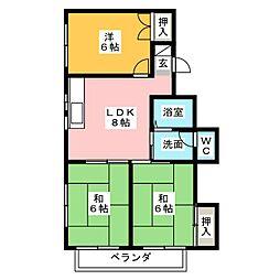 ガーデンM[2階]の間取り