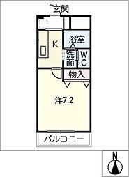 サニーヒル南平[2階]の間取り
