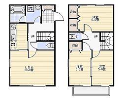 [テラスハウス] 神奈川県逗子市桜山6丁目 の賃貸【/】の間取り