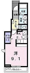 岡山電気軌道清輝橋線 清輝橋駅 4.3kmの賃貸アパート 1階1Kの間取り