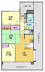 プレステージ東加古川II[602号室]の間取り