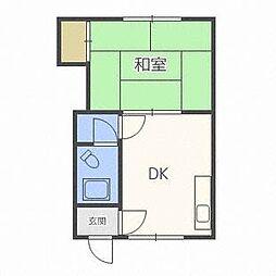 リバティハウス36[1階]の間取り