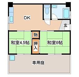 兵庫県神戸市須磨区南町3丁目の賃貸マンションの間取り