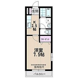 埼玉県さいたま市中央区鈴谷5の賃貸マンションの間取り