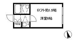 コースト茅ヶ崎[202号室]の間取り
