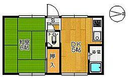 佐賀県佐賀市西魚町の賃貸アパートの間取り