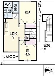 セレクト[2階]の間取り