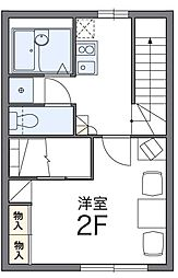 レオパレス松島[1階]の間取り