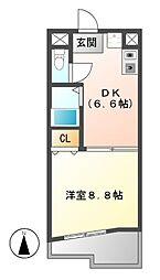 メゾンコロル[6階]の間取り