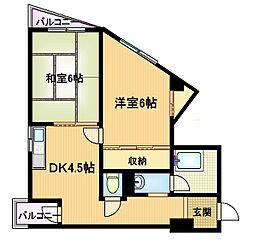 ハイツKEMA[4階]の間取り