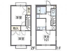 レオパレス斉藤[1階]の間取り