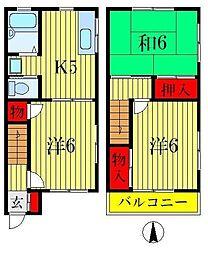 [テラスハウス] 埼玉県三郷市戸ヶ崎2丁目 の賃貸【埼玉県 / 三郷市】の間取り