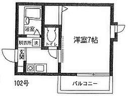 港北区篠原町 ブルーニュアージュ101号室[101号室]の間取り