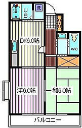 埼玉県さいたま市南区曲本3丁目の賃貸マンションの間取り