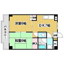 ネオポリストキワI[4階]の間取り
