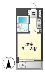 ドール八事富士見[3階]の間取り