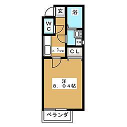 クレフラスト苦竹駅東[1階]の間取り