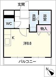 サンシャイン有松[1階]の間取り