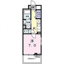 マトカ伏見稲荷 2階1Kの間取り
