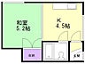 間取り,1DK,面積21.06m2,賃料3.0万円,バス くしろバス川北8番地下車 徒歩3分,,北海道釧路市川北町