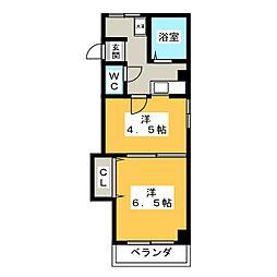 JY館[2階]の間取り