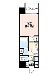 アドバンス大阪ドーム前アヴェニール[304号室]の間取り