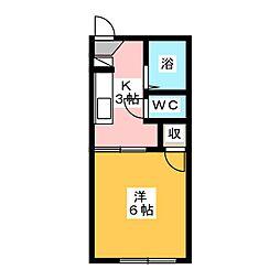 ロワイムヨドシ[1階]の間取り