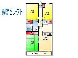 ライオンズマンション松戸上本郷[2階]の間取り