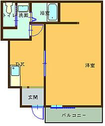 (仮)船尾新築アパート 1階1Kの間取り