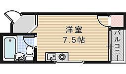 第二木田ハイツ[502号室]の間取り