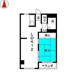 大崎ビルディング[4階]の間取り