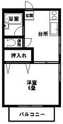 ニューひかりコーポ[1階]の間取り