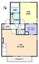 ウィルモアK[1階]の間取り