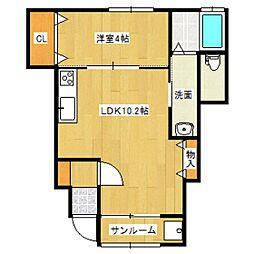 ESTERO柳島町[1階]の間取り