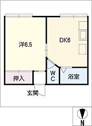 広栄荘2棟[2階]の間取り