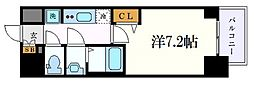 名古屋市営桜通線 丸の内駅 徒歩2分の賃貸マンション 7階1Kの間取り
