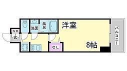 兵庫県神戸市兵庫区東出町3丁目の賃貸マンションの間取り